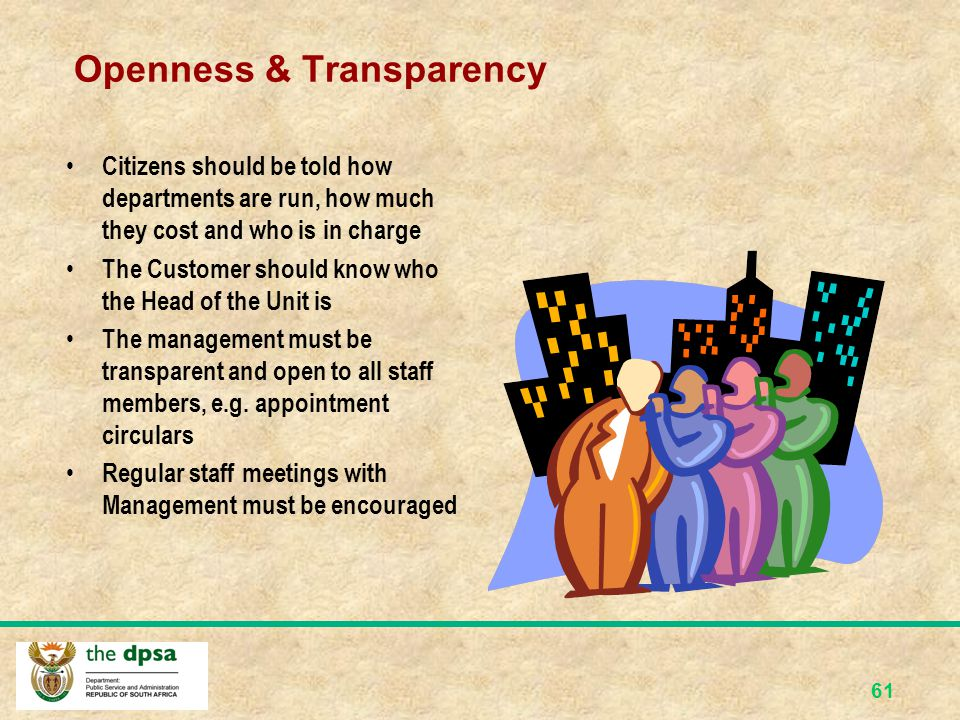 Openness & Transparency