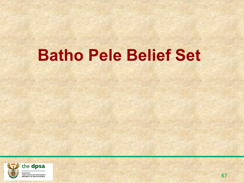 Batho Pele Belief Set