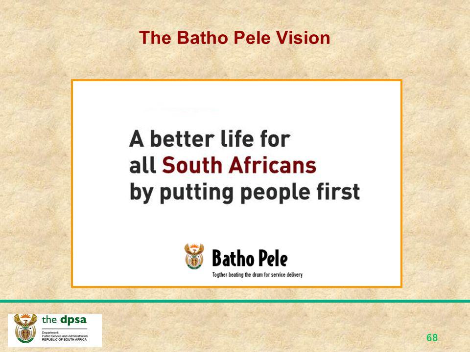 The Batho Pele Vision