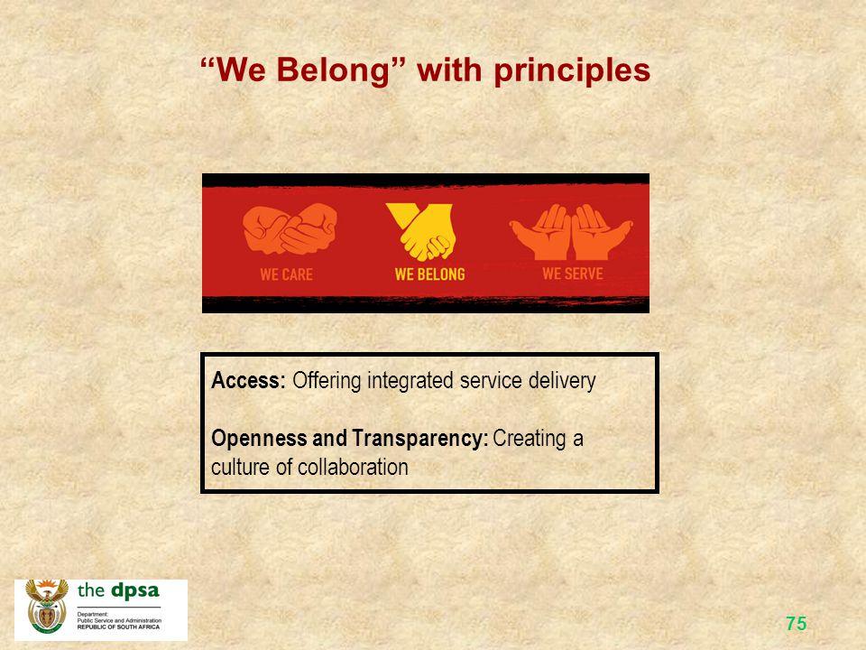 We Belong with principles