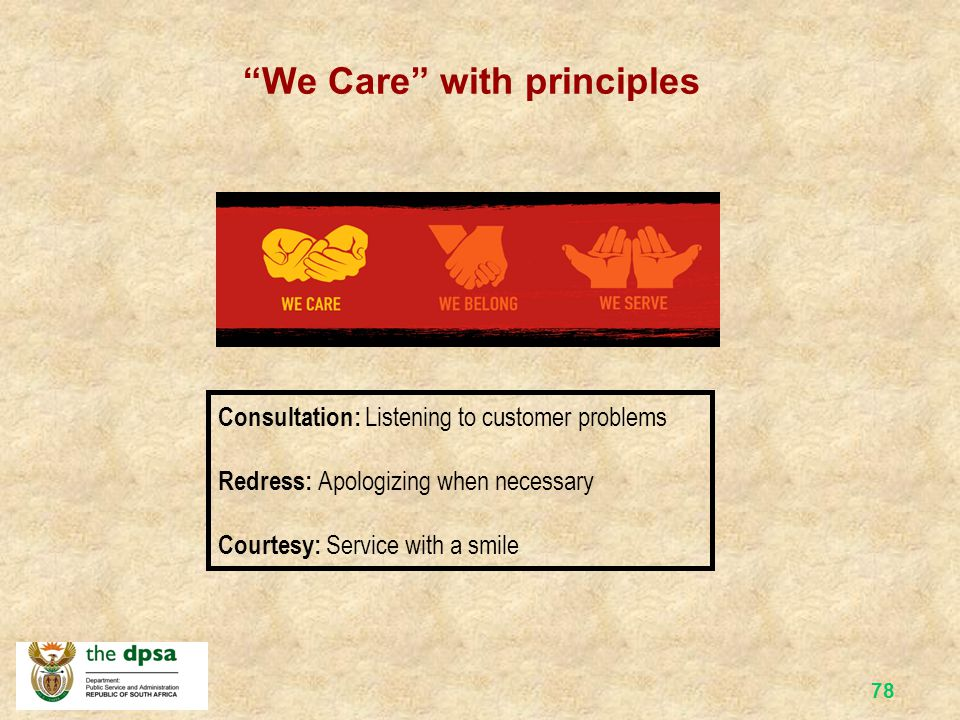 We Care with principles