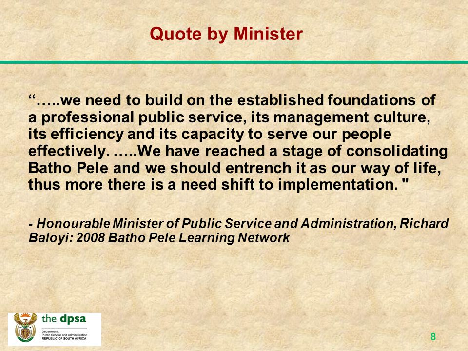 Quote by Minister