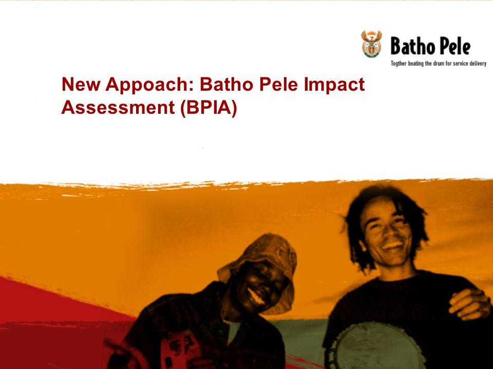 New Appoach: Batho Pele Impact