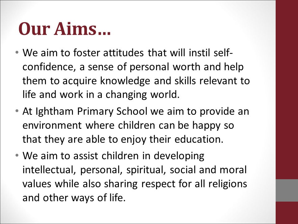 Our Aims…