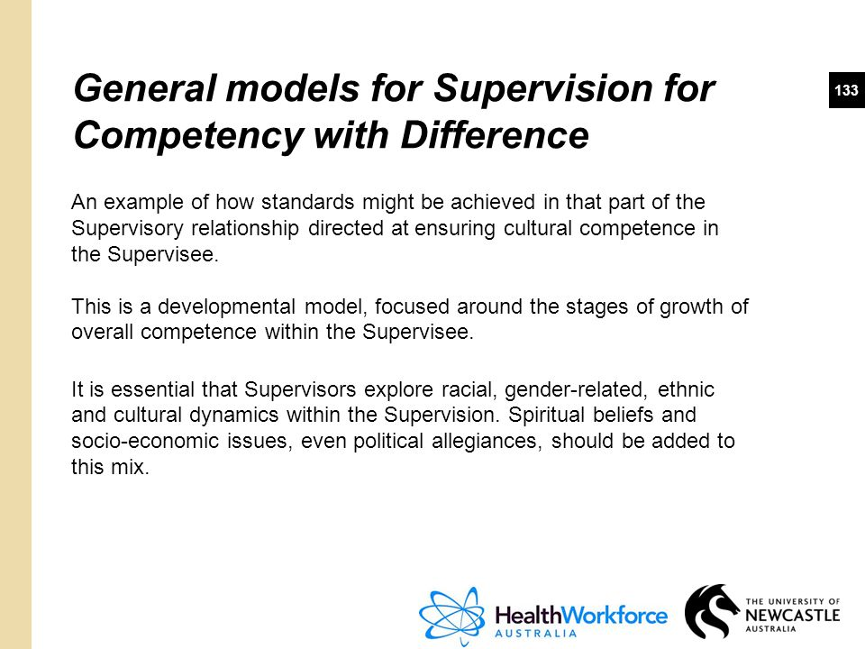 General models for Supervision for Competency with Difference