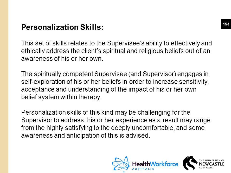 Personalization Skills: