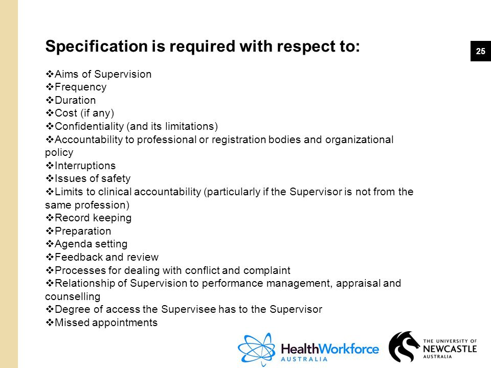 Specification is required with respect to: