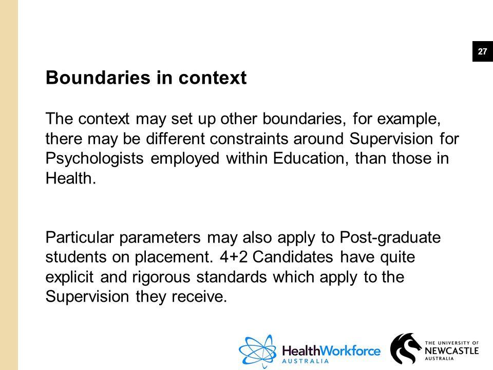 Boundaries in context