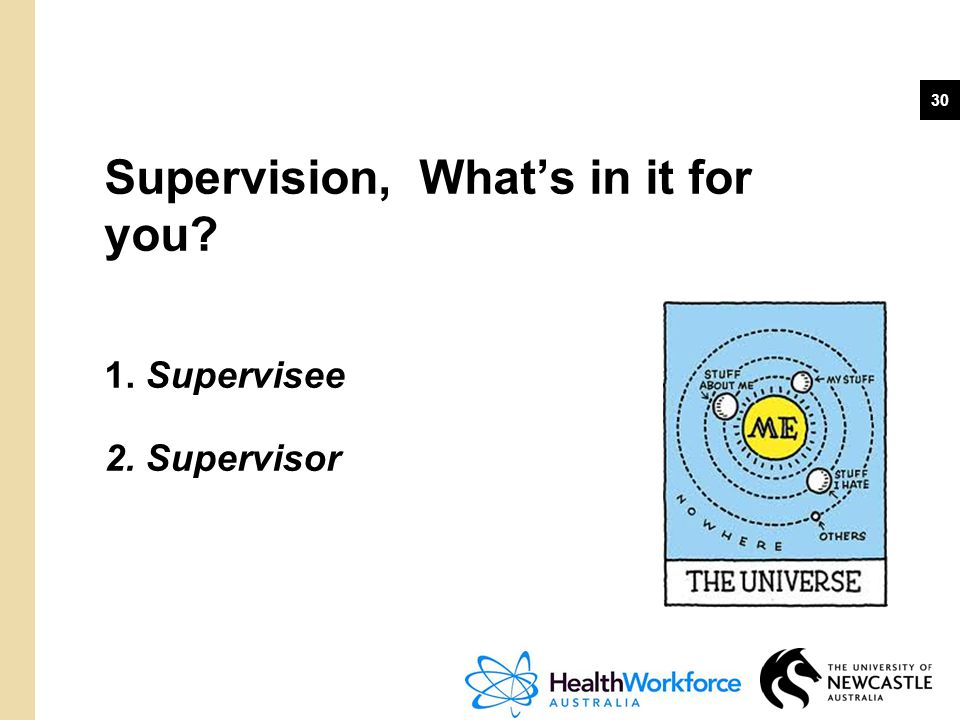 Supervision, What's in it for you