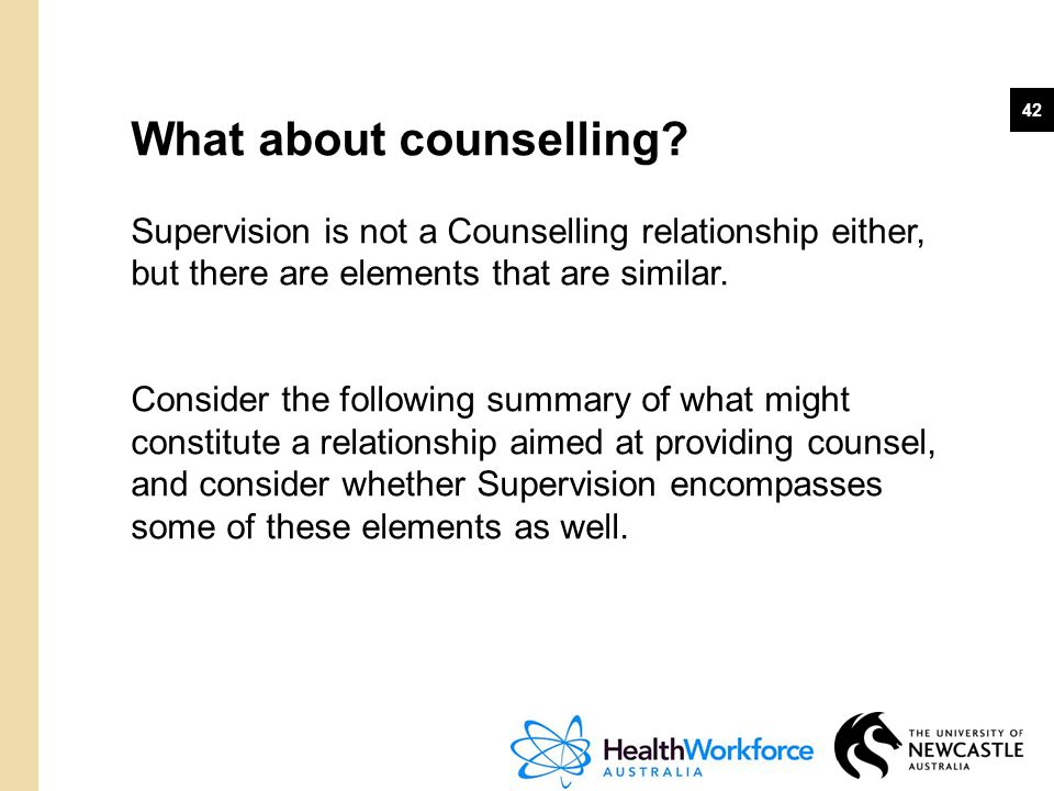 What about counselling