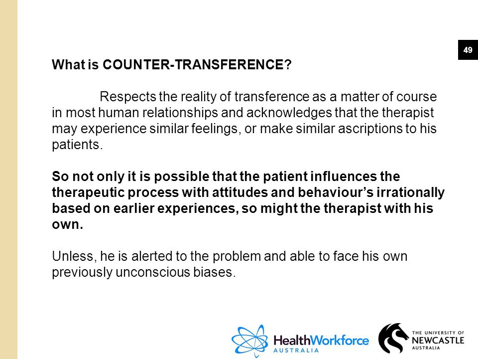What is COUNTER-TRANSFERENCE