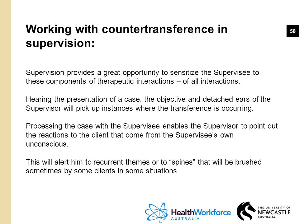 Working with countertransference in supervision: