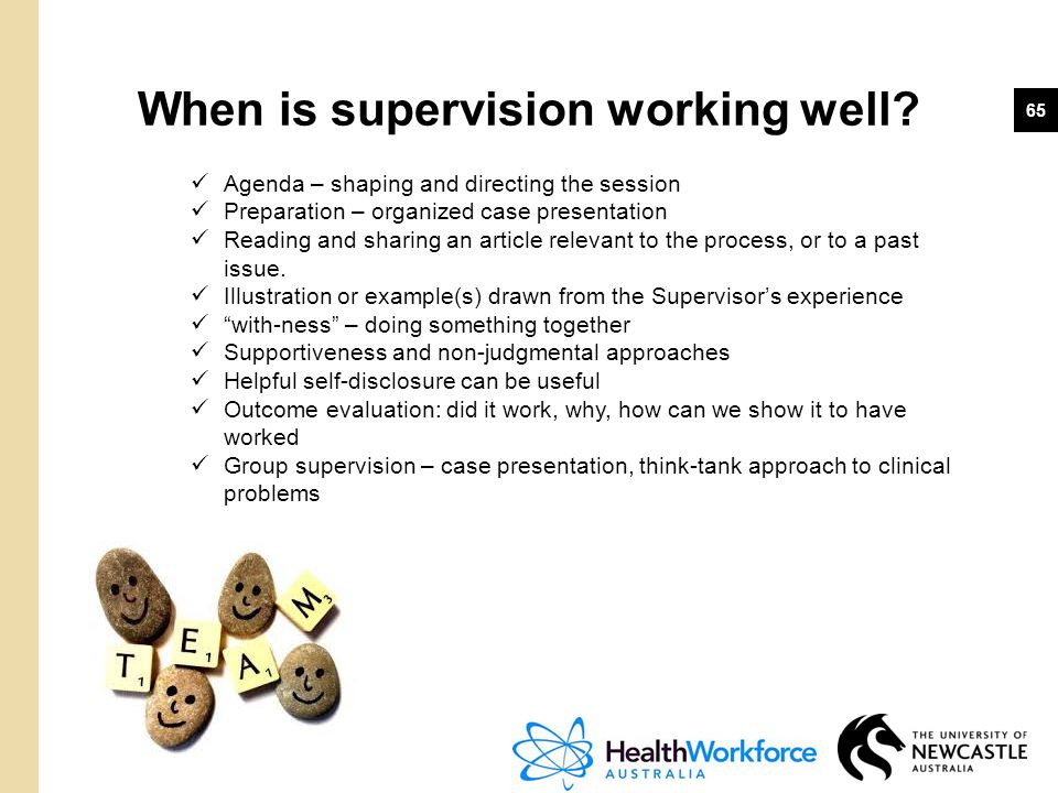 When is supervision working well