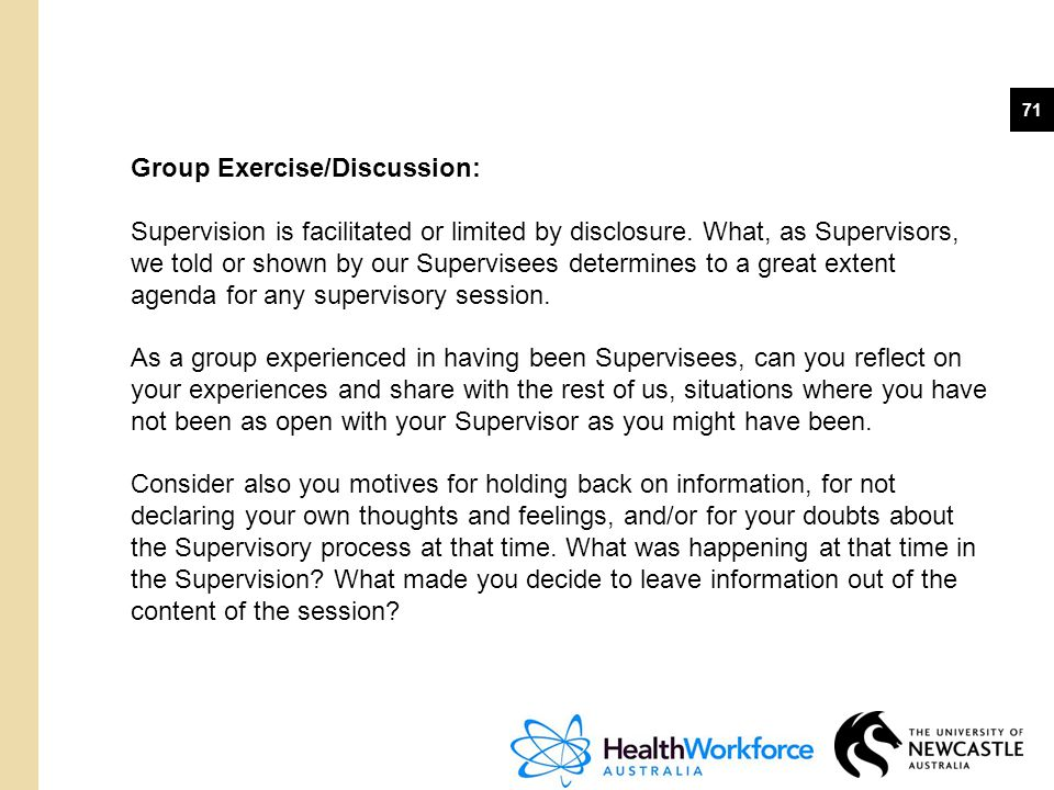 Group Exercise/Discussion: