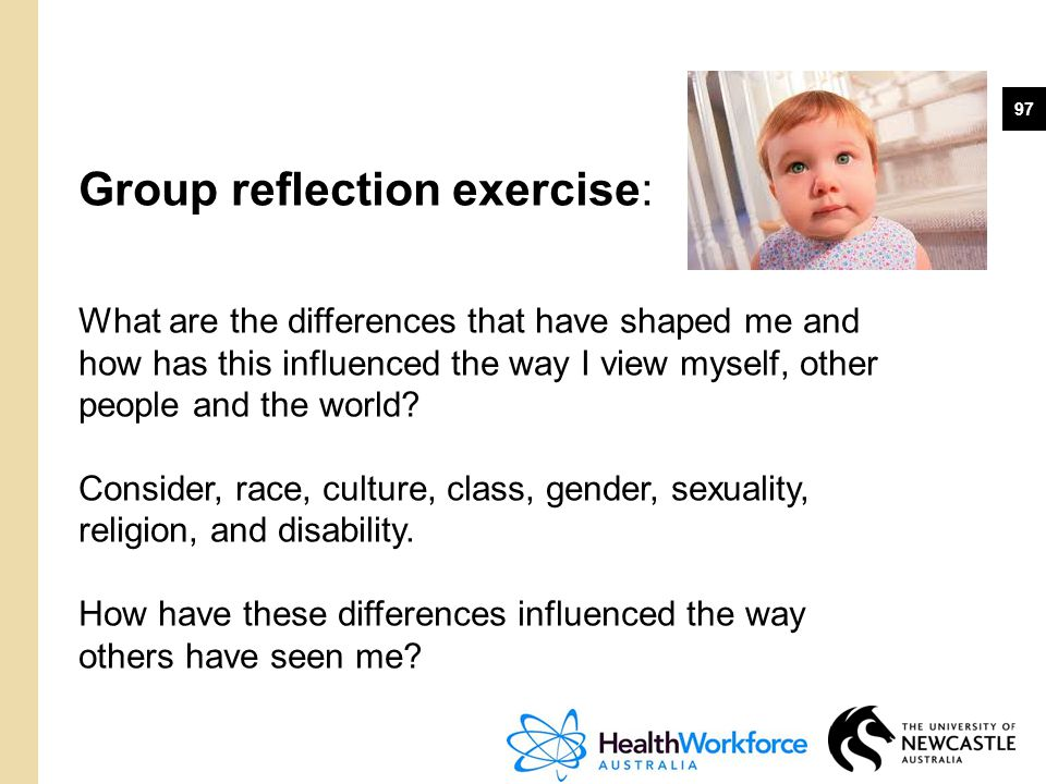Group reflection exercise: