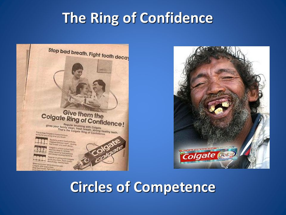 The Ring of Confidence Circles of Competence