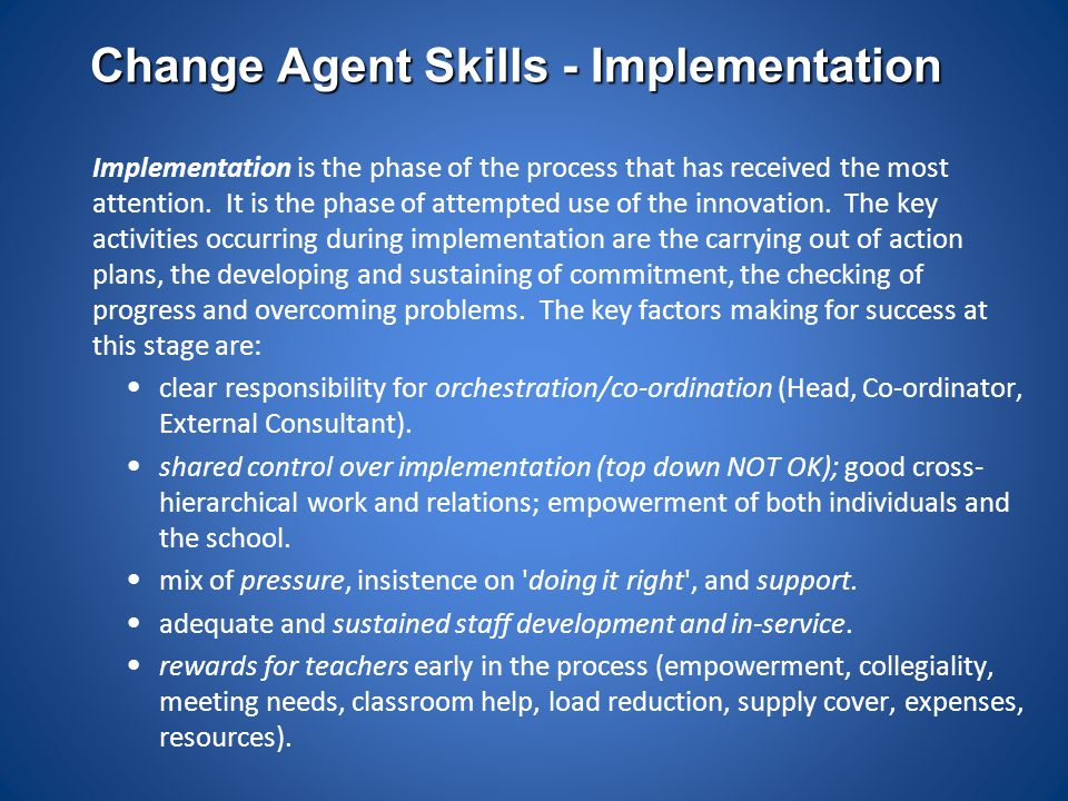 Change Agent Skills - Implementation
