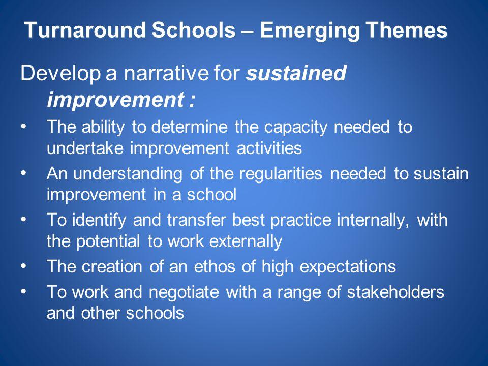 Turnaround Schools – Emerging Themes