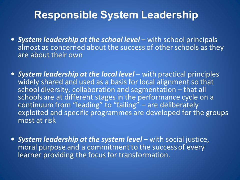 Responsible System Leadership