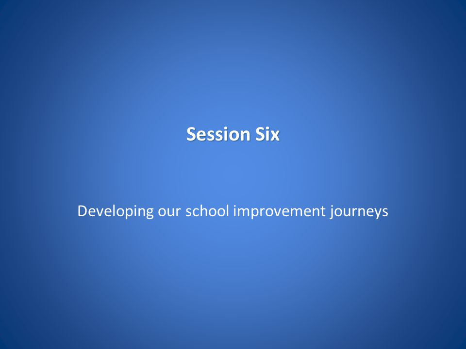 Developing our school improvement journeys