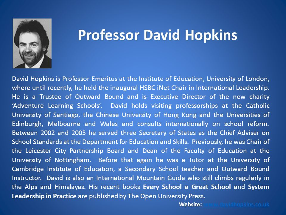 Professor David Hopkins