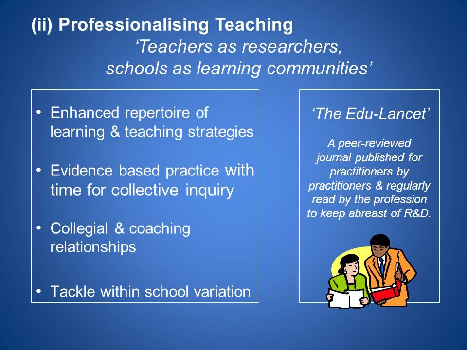 (ii) Professionalising Teaching 'Teachers as researchers,
