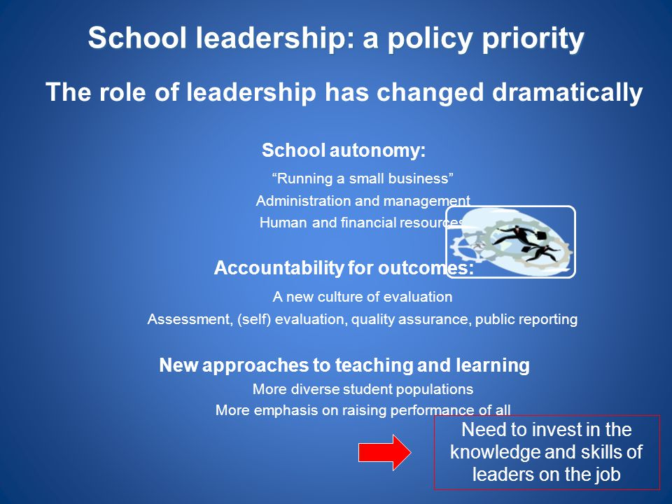 School leadership: a policy priority