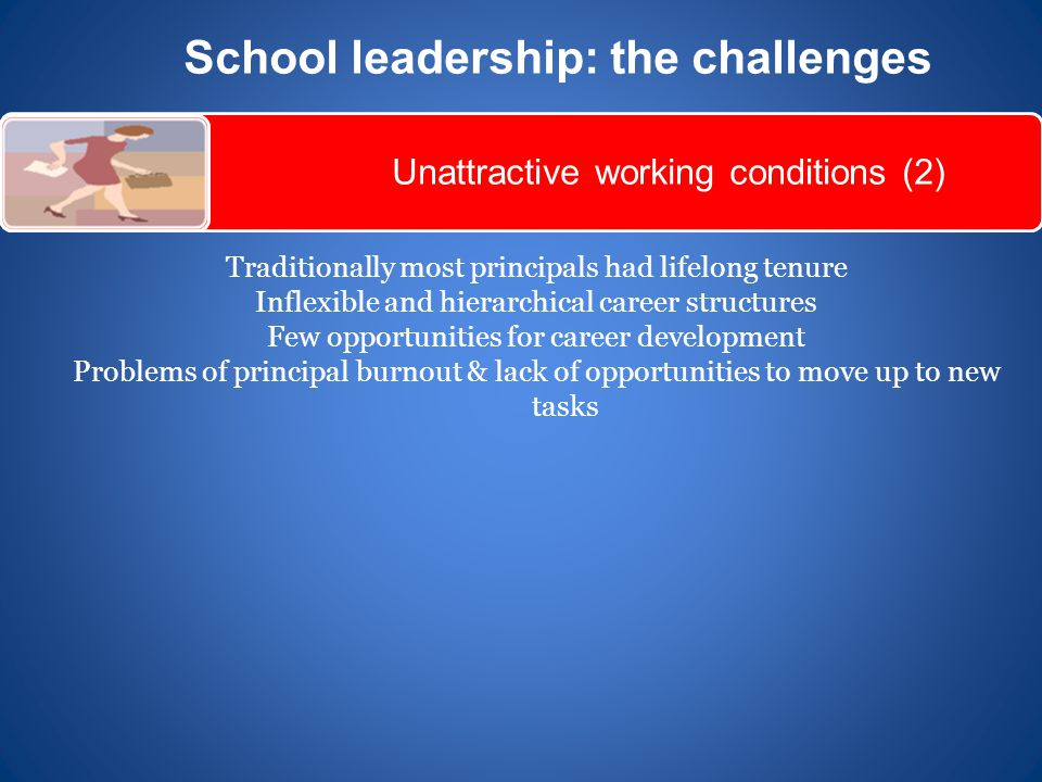 School leadership: the challenges
