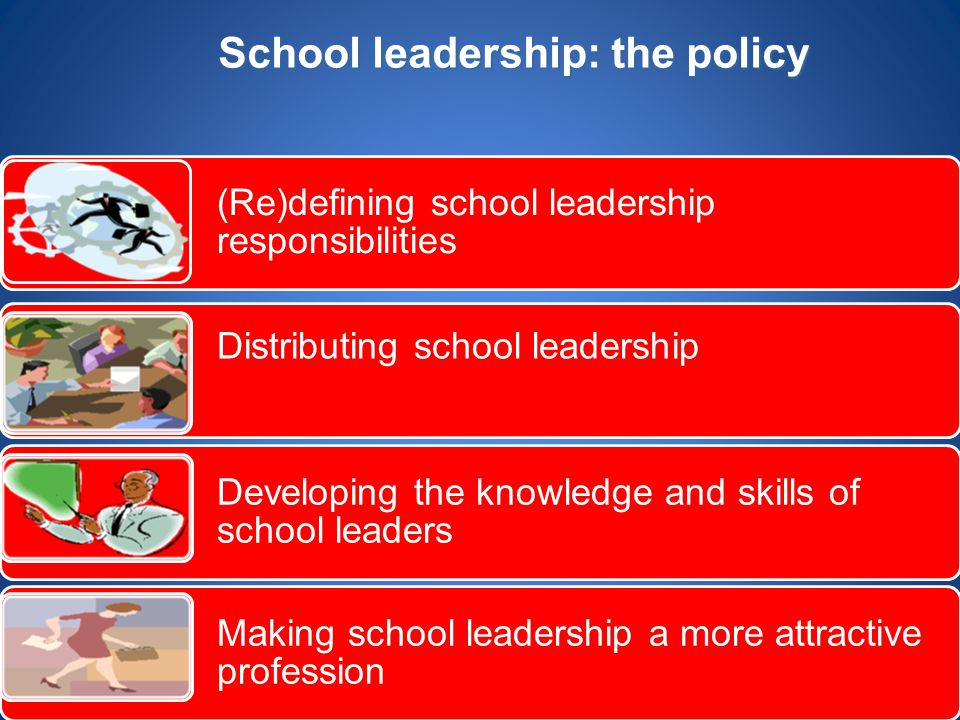 School leadership: the policy