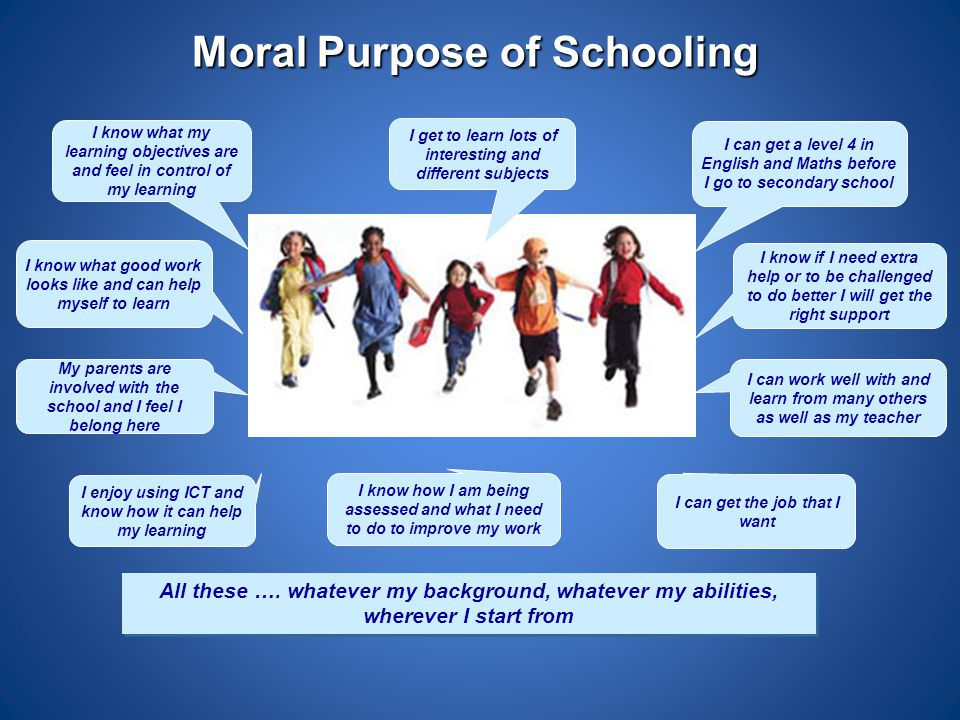 Moral Purpose of Schooling