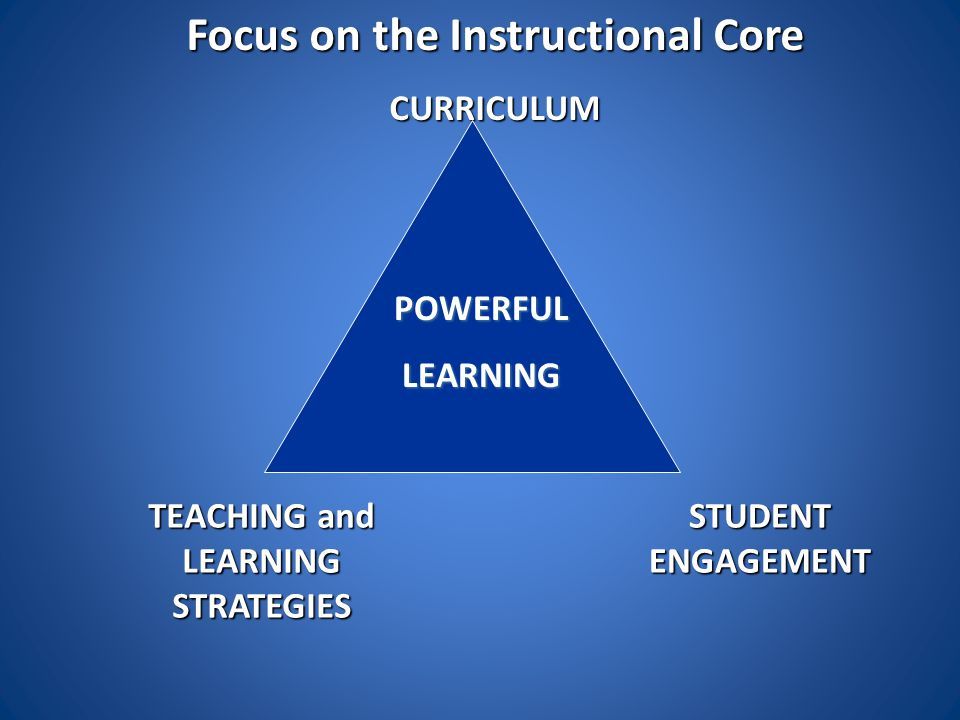 Focus on the Instructional Core TEACHING and LEARNING STRATEGIES