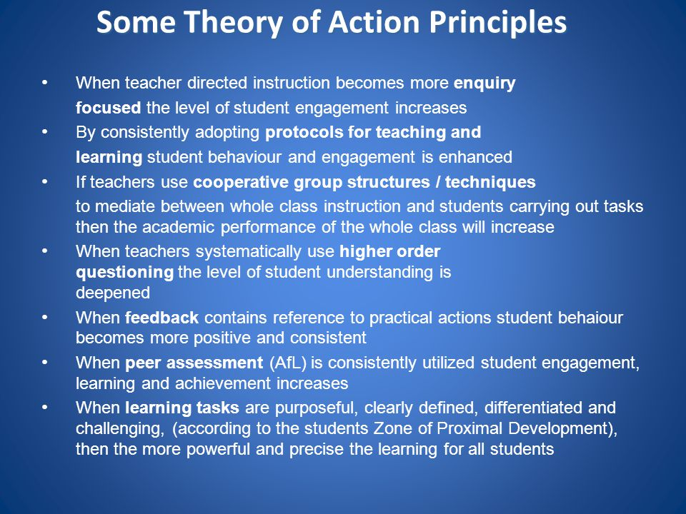 Some Theory of Action Principles
