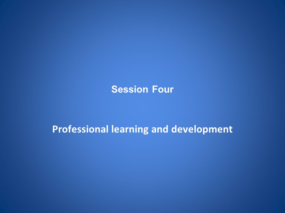 Professional learning and development
