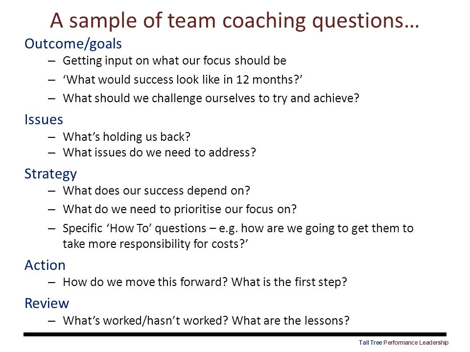 A sample of team coaching questions…