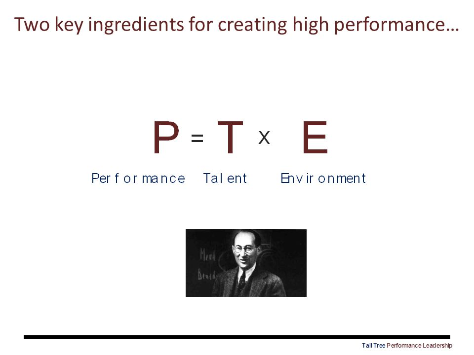 Two key ingredients for creating high performance…