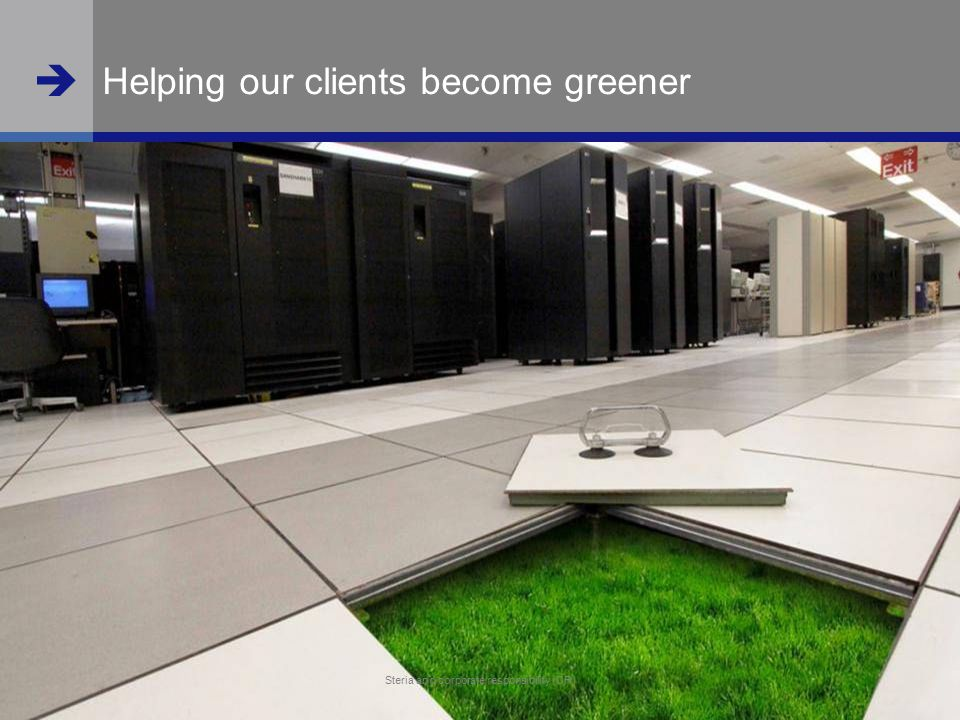 Helping our clients become greener