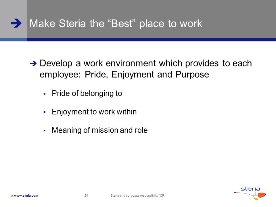 Make Steria the Best place to work