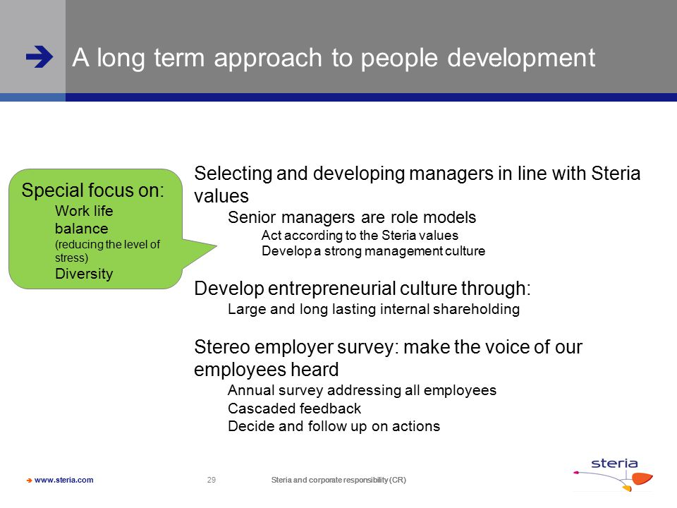 A long term approach to people development