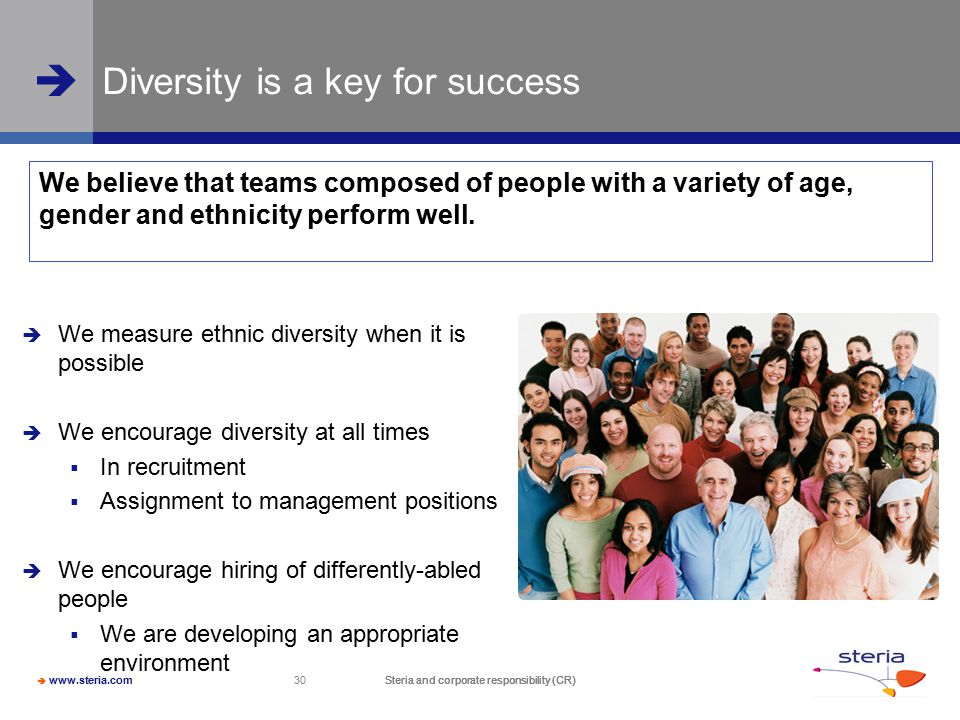 Diversity is a key for success