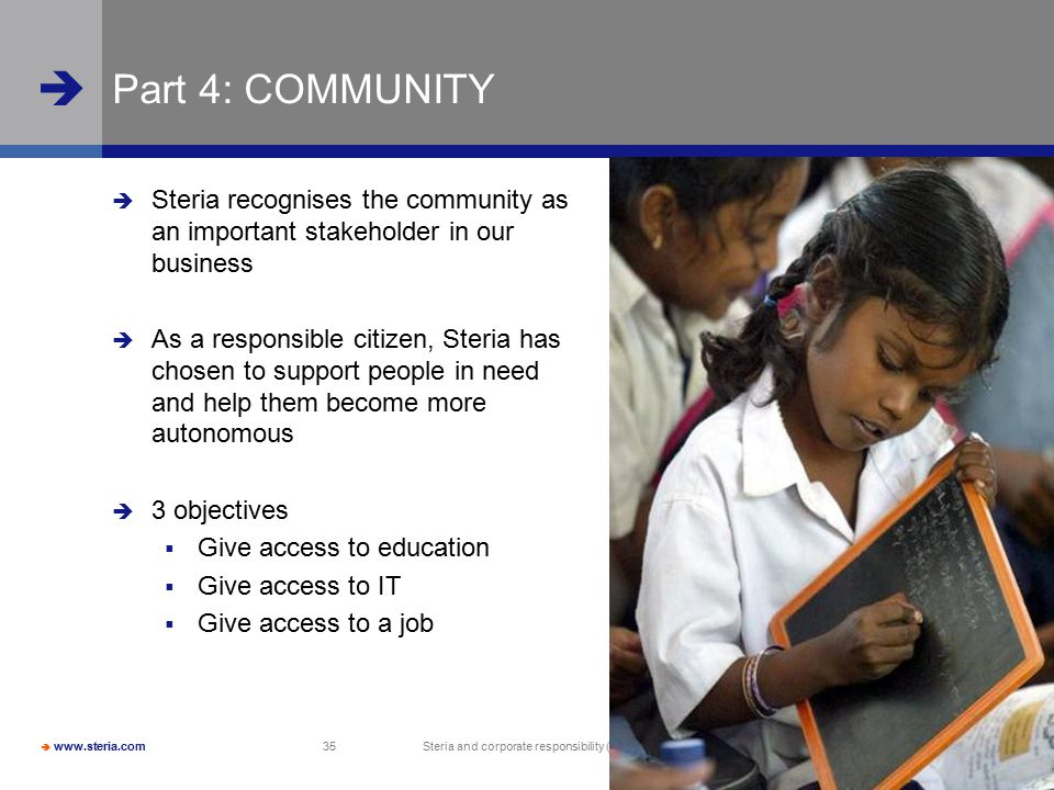 Steria and corporate responsibility (CR)