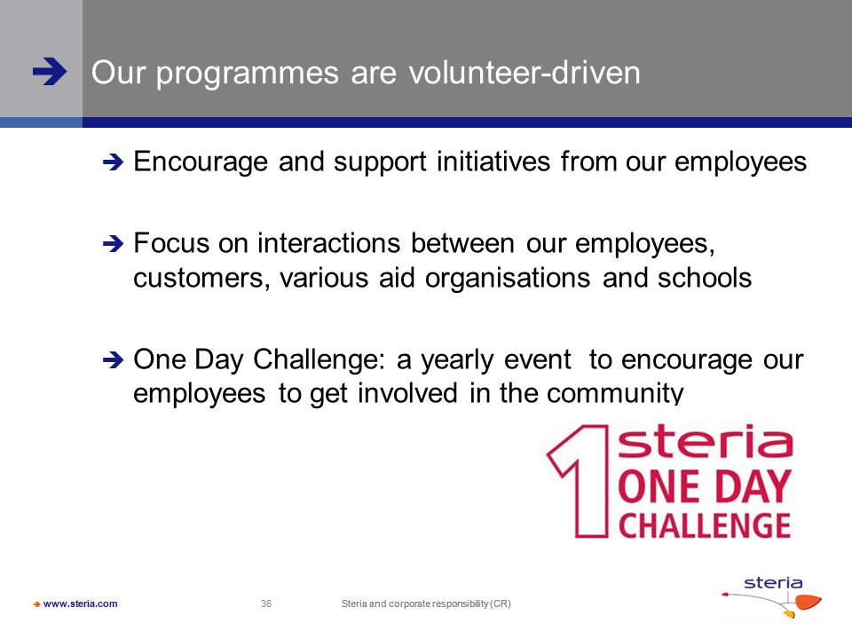 Our programmes are volunteer-driven