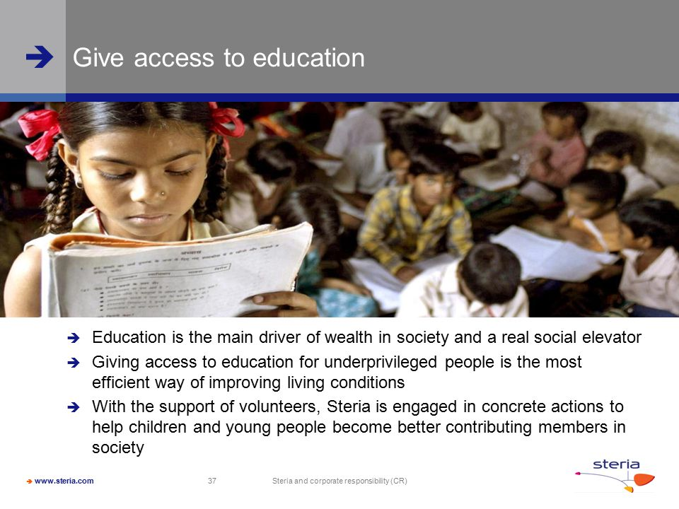 Give access to education