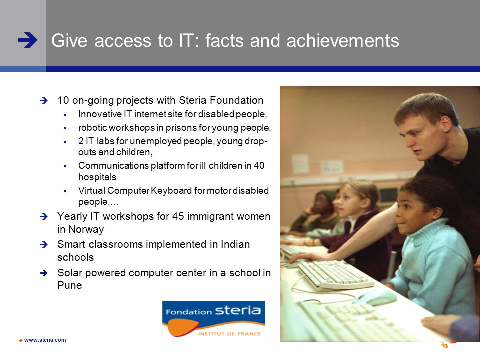 Give access to IT: facts and achievements