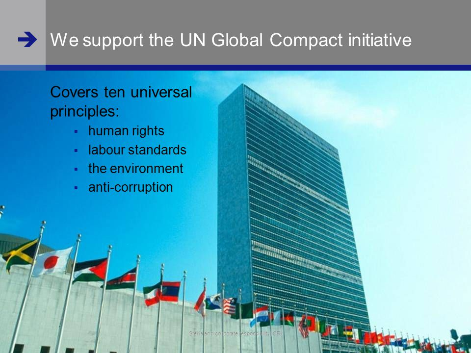 We support the UN Global Compact initiative