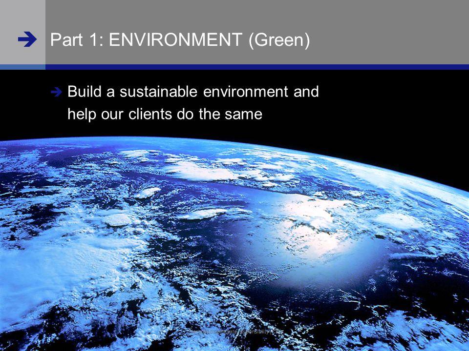 Part 1: ENVIRONMENT (Green)