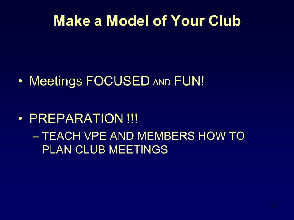 Make a Model of Your Club