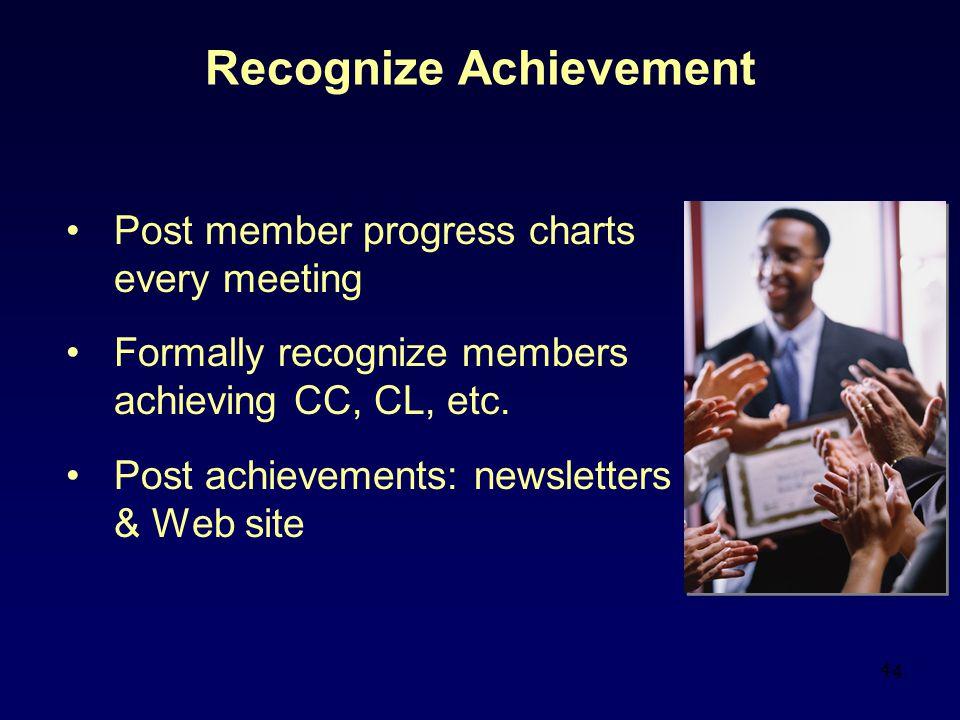 Recognize Achievement