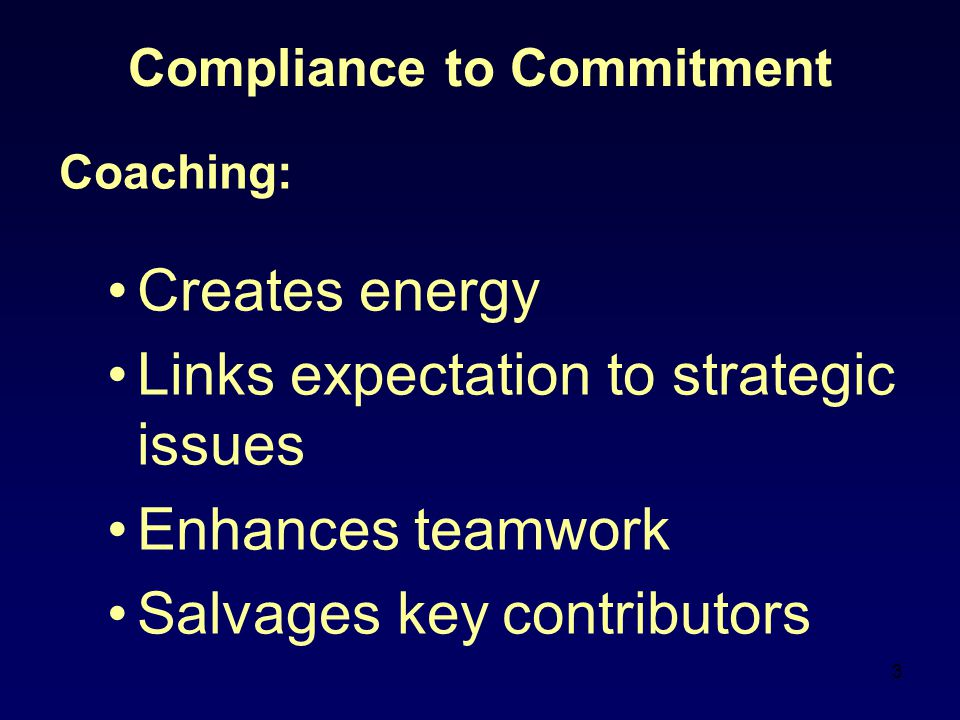 Compliance to Commitment