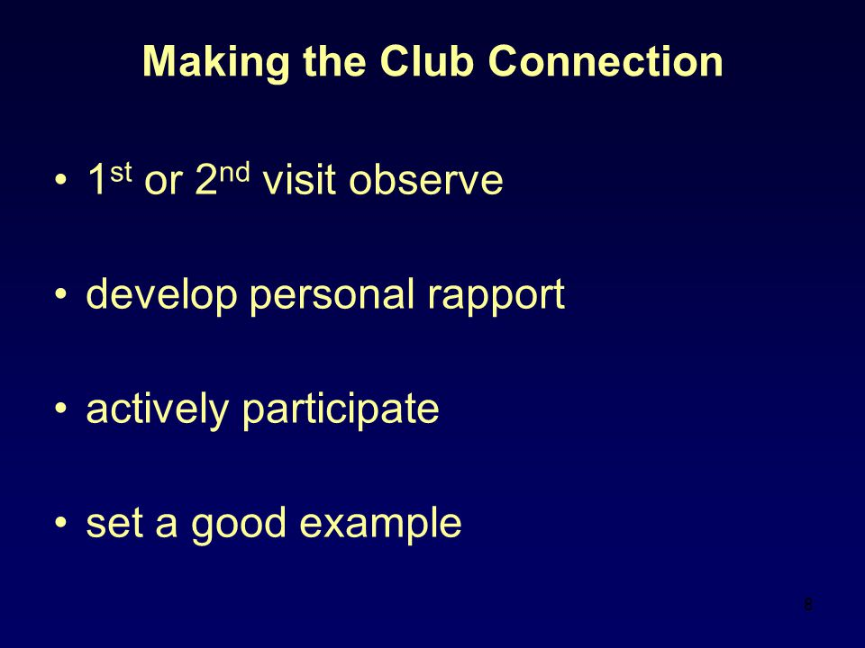 Making the Club Connection