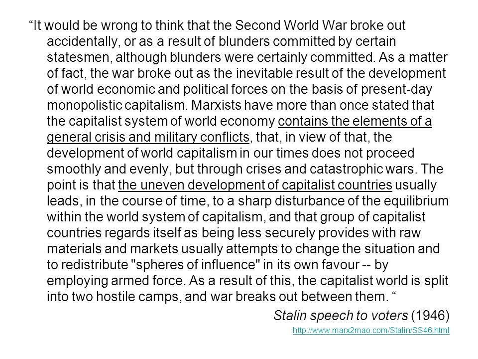 Stalin speech to voters (1946)